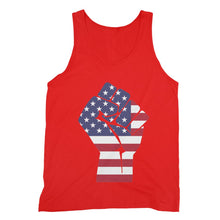 America First Hand Flag Fine Jersey Tank Top Apparel Flagdesignproducts.com