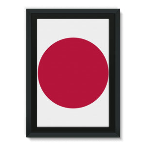 Basic Japan Flag Framed Canvas Wall Decor Flagdesignproducts.com