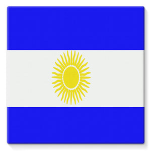 Flag Of Argentina Stretched Eco-Canvas Wall Decor Flagdesignproducts.com