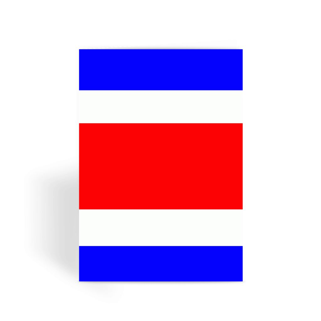 Flag Of Costa Rica Greeting Card Prints Flagdesignproducts.com
