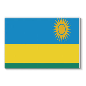 Flag Of Rwanda Stretched Canvas Wall Decor Flagdesignproducts.com