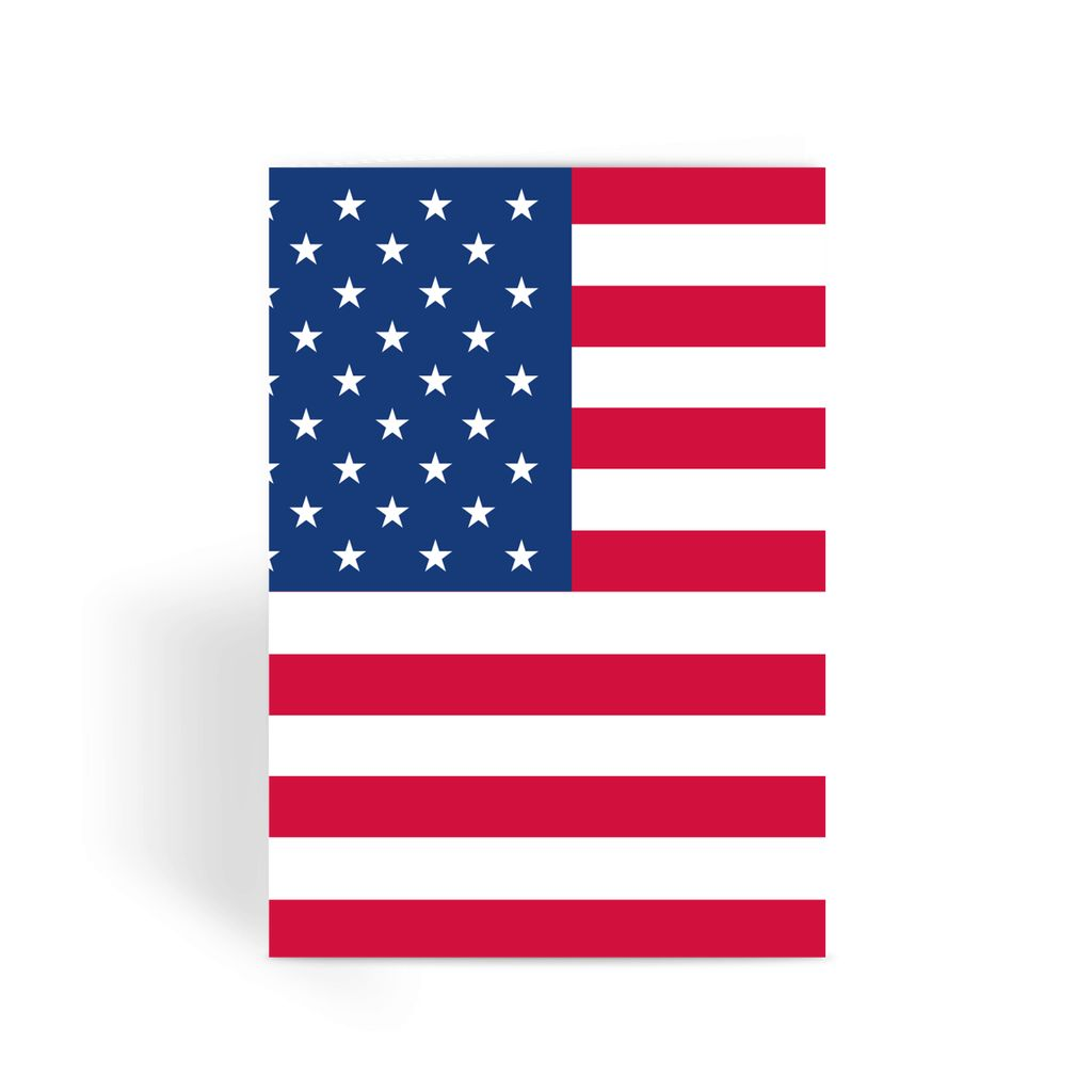 America Flag Greeting Card Prints Flagdesignproducts.com