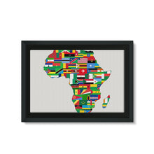 Africa Countries Flag Framed Eco-Canvas Wall Decor Flagdesignproducts.com