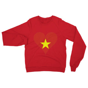 Vietnam Heart Flag Heavy Blend Crew Neck Sweatshirt Apparel Flagdesignproducts.com