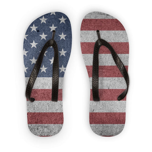 Grunde Old Usa Flag Flip Flops Accessories Flagdesignproducts.com
