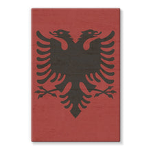 Albania Stone Wall Flag Stretched Canvas Decor Flagdesignproducts.com