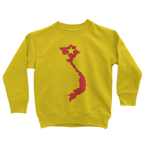 Vietnam Continent Flag Kids Sweatshirt Apparel Flagdesignproducts.com