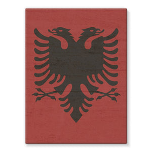 Albania Stone Wall Flag Stretched Eco-Canvas Decor Flagdesignproducts.com