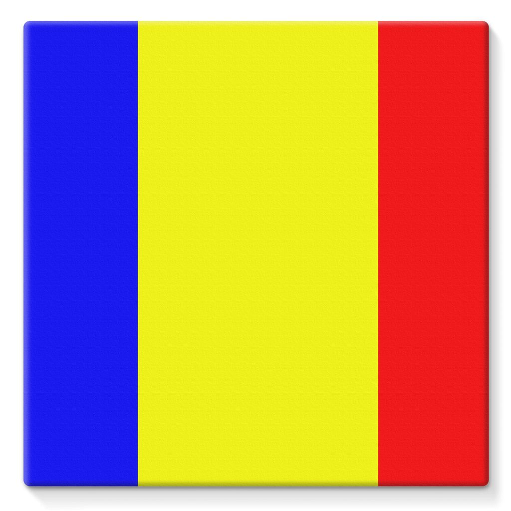 Flag Of Chad Stretched Eco-Canvas Wall Decor Flagdesignproducts.com