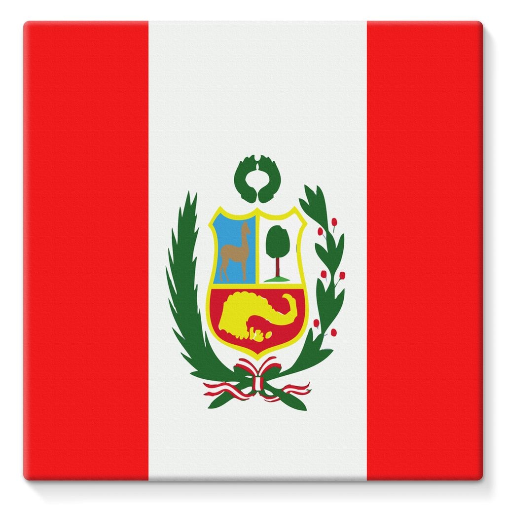 Flag Of Peru Stretched Eco-Canvas Wall Decor Flagdesignproducts.com