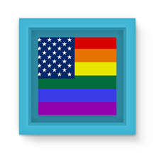 Colorful Usa Rainbow Flag Magnet Frame Homeware Flagdesignproducts.com