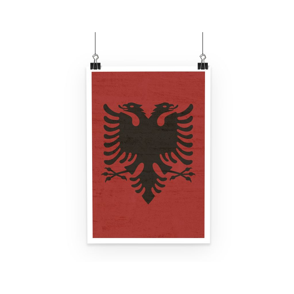 Albania Stone Wall Flag Poster Decor Flagdesignproducts.com