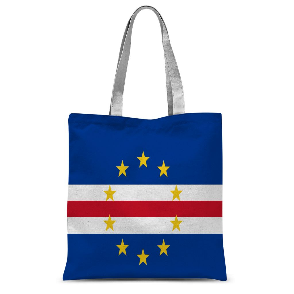Flag Of Cape Verde Sublimation Tote Bag Accessories Flagdesignproducts.com