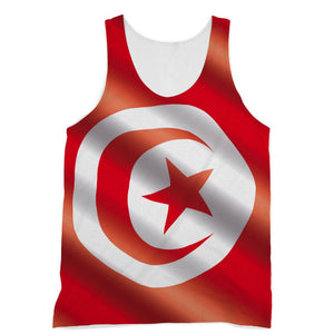 Waving Tunisia Flag Sublimation Vest Apparel Flagdesignproducts.com