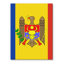National Flag Of Moldova Stretched Eco-Canvas Wall Decor Flagdesignproducts.com