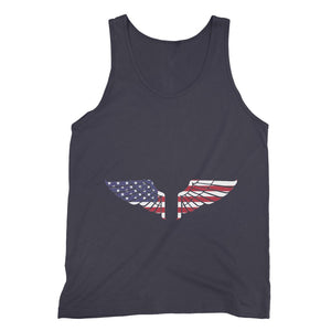 America Usa Wings Flag Fine Jersey Tank Top Apparel Flagdesignproducts.com