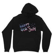 4Th July Usa Text Flag Heavy Blend Hooded Sweatshirt Apparel Flagdesignproducts.com