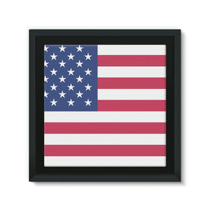 Basic Usa Flag Framed Canvas Wall Decor Flagdesignproducts.com
