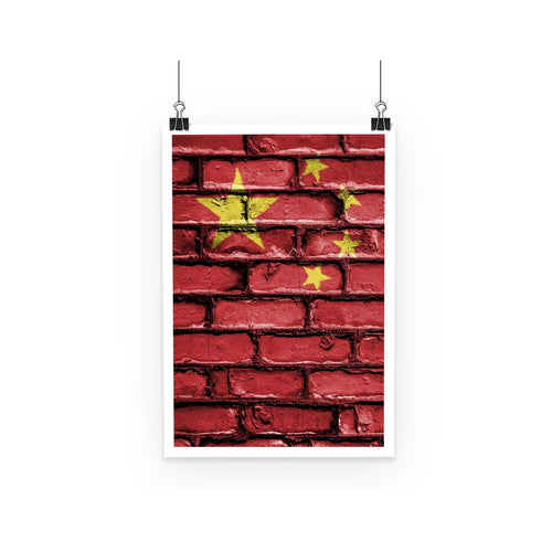 China Stone Brick Wall Flag Poster Decor Flagdesignproducts.com