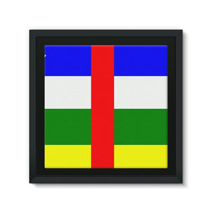 Flag Of Central African Framed Eco-Canvas Wall Decor Flagdesignproducts.com