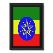 Flag Of Ethiopia Framed Eco-Canvas Wall Decor Flagdesignproducts.com