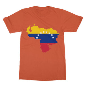 Venezuela Continent Flag Softstyle Ringspun T-Shirt Apparel Flagdesignproducts.com