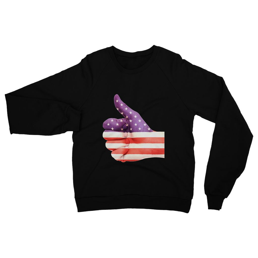Usa Hand And Finger Flag Heavy Blend Crew Neck Sweatshirt Apparel Flagdesignproducts.com