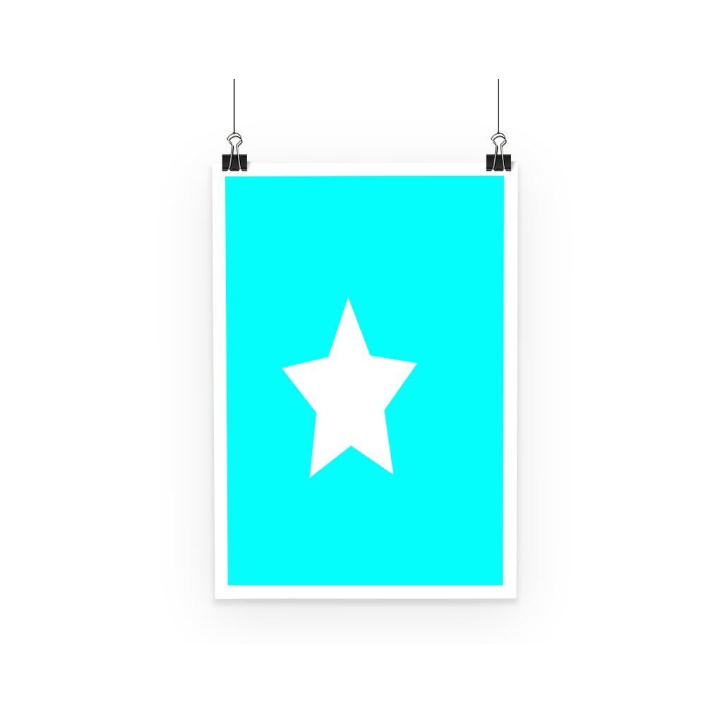 Flag Of Somalia Poster Wall Decor Flagdesignproducts.com