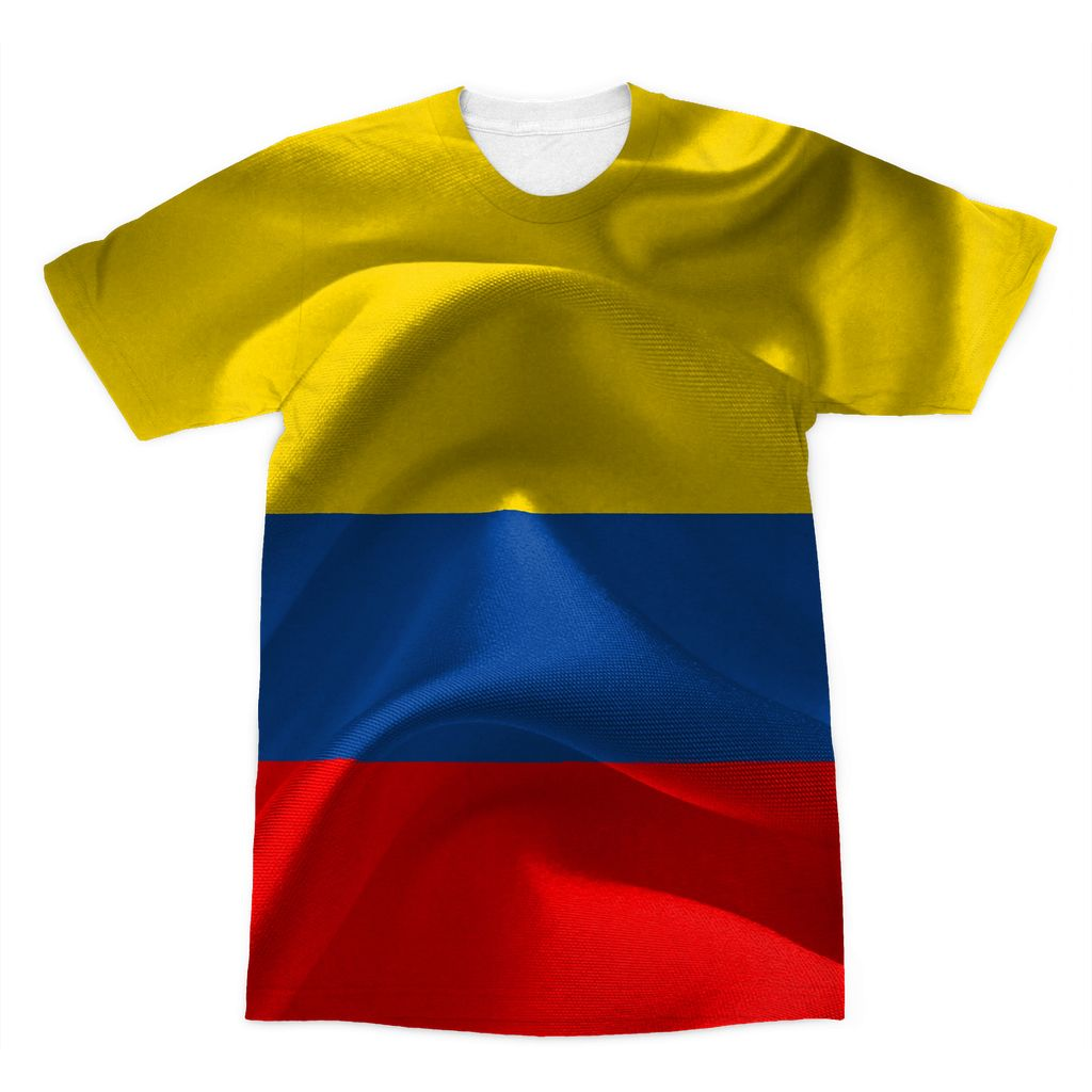 Waving Fabric National Flag Sublimation T-Shirt Apparel Flagdesignproducts.com
