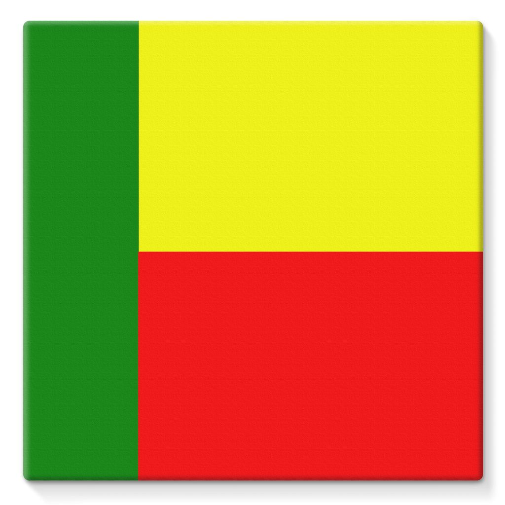 Flag Of Benin Stretched Eco-Canvas Wall Decor Flagdesignproducts.com