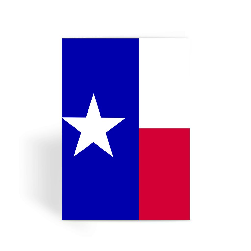 Basic Texas Flag Greeting Card Prints Flagdesignproducts.com