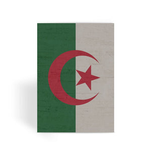 Algeria Stone Wall Flag Greeting Card Prints Flagdesignproducts.com
