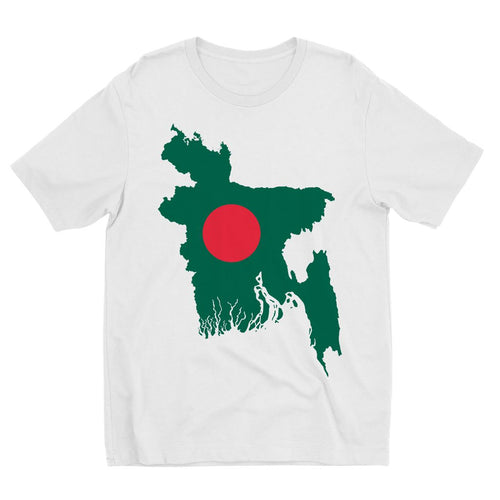 Bangladesh Continent Flag Kids Sublimation T-Shirt Apparel Flagdesignproducts.com