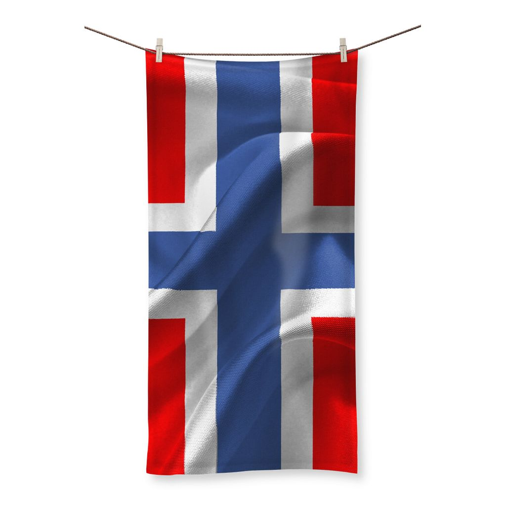 Flag Of Norway Beach Towel Homeware Flagdesignproducts.com