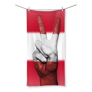 Austria Flag And Hand Beach Towel Homeware Flagdesignproducts.com