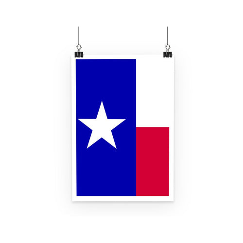 Basic Texas Flag Poster Wall Decor Flagdesignproducts.com