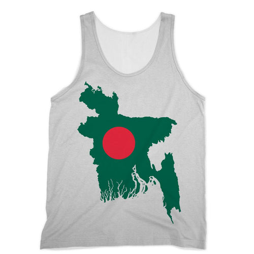 Bangladesh Continent Flag Sublimation Vest Apparel Flagdesignproducts.com