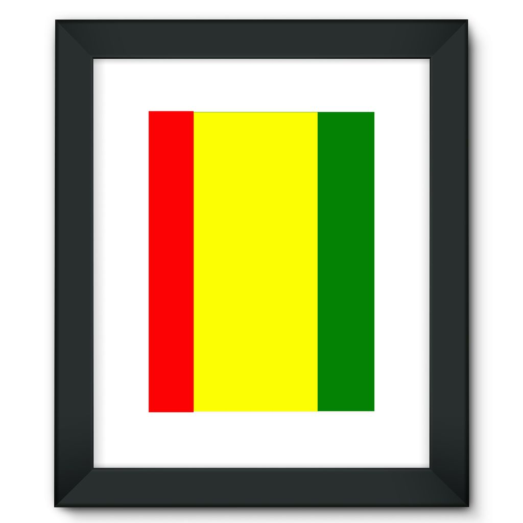 Flag Of Guinea Framed Fine Art Print Wall Decor Flagdesignproducts.com
