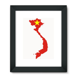 Vietnam Continent Flag Framed Fine Art Print Wall Decor Flagdesignproducts.com