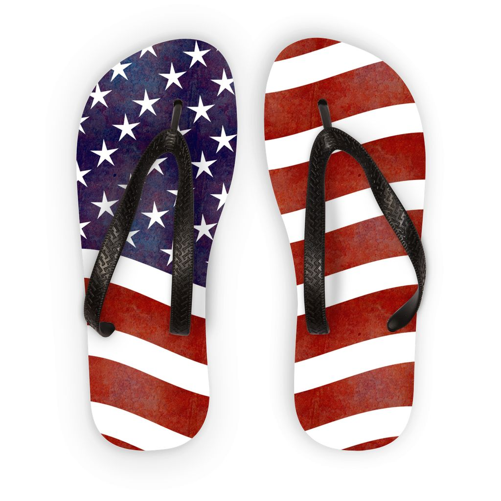 Waving Old Usa Flag Flip Flops Accessories Flagdesignproducts.com