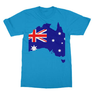 Australia Continent Flag Softstyle Ringspun T-Shirt Apparel Flagdesignproducts.com