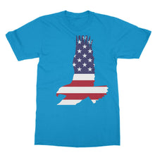 Usa Flag American Eagle Softstyle Ringspun T-Shirt Apparel Flagdesignproducts.com