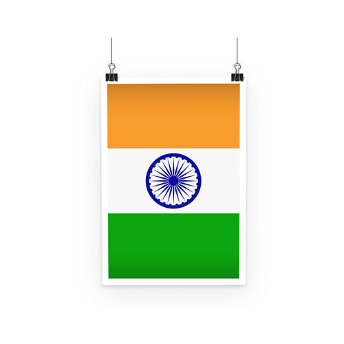 Basic India Flag Poster Wall Decor Flagdesignproducts.com