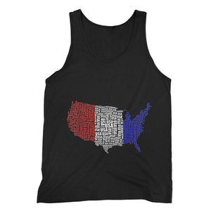 Usa Text Continent Flag Fine Jersey Tank Top Apparel Flagdesignproducts.com