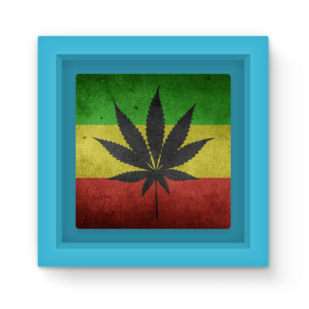 Green Yellow & Red Cannabis Magnet Frame Homeware Flagdesignproducts.com