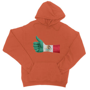 Mexico Hand Flag College Hoodie Apparel Flagdesignproducts.com