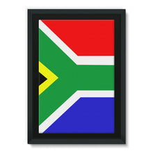 Flag Of South Africa Framed Eco-Canvas Wall Decor Flagdesignproducts.com