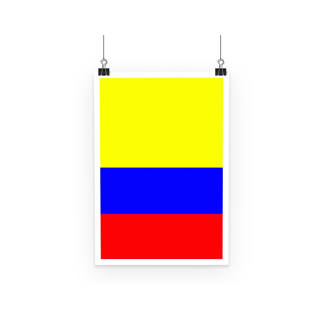 Flag Of Colombia Poster Wall Decor Flagdesignproducts.com