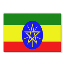 Flag Of Ethiopia Stretched Eco-Canvas Wall Decor Flagdesignproducts.com