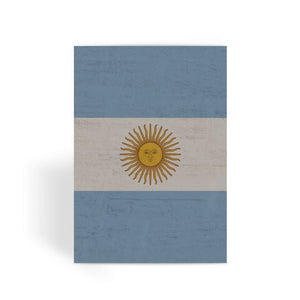 Argentina Stone Wall Flag Greeting Card Prints Flagdesignproducts.com